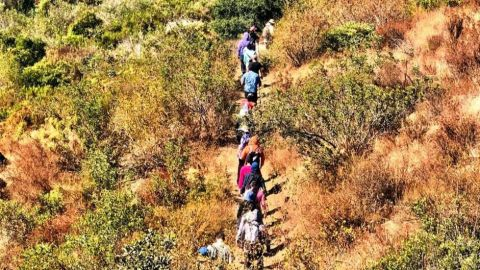 Reanudan actividades de senderismo en la localidad