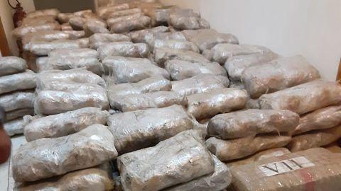 Asegura Semar y GN paquetes de marihuana
