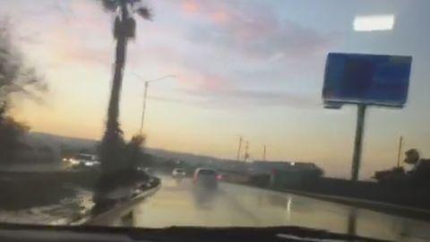Inundación por fuga en Vía Rápida