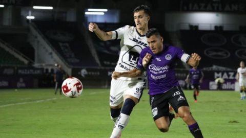 Mazatlán y Pumas dan aburrido empate en el Kraken