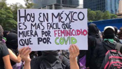 VIDEO: ''Es más fácil que muera por feminicidio que por covid'', manifestante