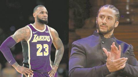 Colin Kaepernick agradece a LeBron James por protestas
