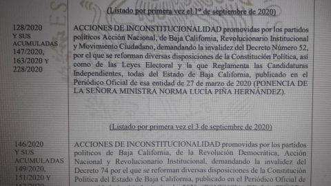 Analizará SCJN inicio de proceso electoral en BC