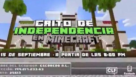 Alcaldesa de Escobedo dará Grito de Independencia en juego Minecraft