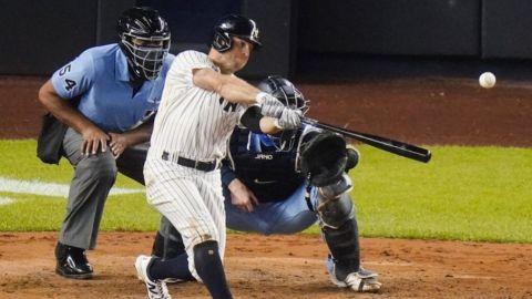Yankees batean 5 jonrones en una entrada y vencen a Azulejos
