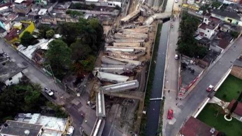 Descarrila vagón de tren en Veracruz; descartan heridos