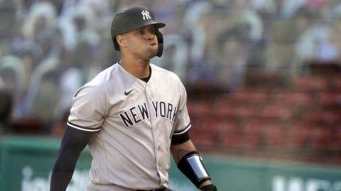 Yankees mandan a la banca al cátcher dominicano Gary Sánchez