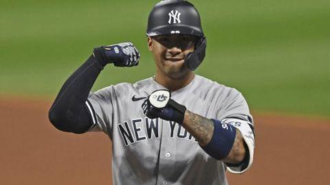 Yankees apabullan a Indios al iniciar serie de playoffs
