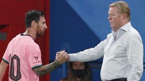 Koeman satisfecho con la unidad de Messi