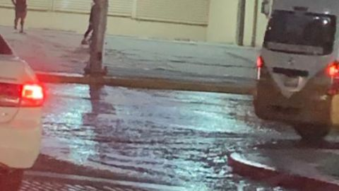 Reportan fuga de agua en Bellas Artes