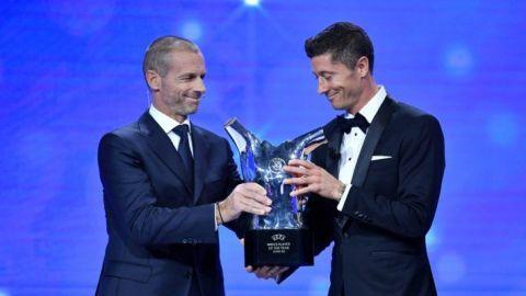 Lewandowski gana el premio al Futbolista del Año de la UEFA