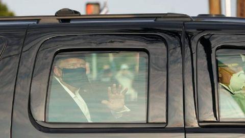 VIDEO: Trump sale del hospital para saludar a simpatizantes desde el coche
