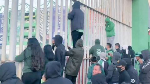 Aficionados ingresan al Estadio León y causan destrozos