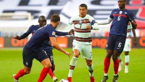 Francia y Portugal empatan en intensidad y en orden defensivo
