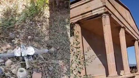 VIDEO: Basura, maleza y destrucción en el panteón de El Sauzal