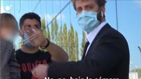 Luis Suárez se molesta con periodistas que lo siguen
