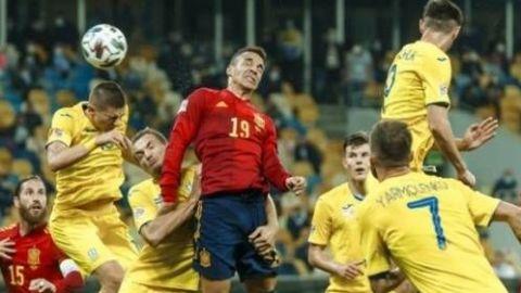 Ucrania le gana a España por la Liga de Naciones