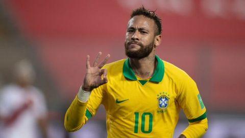 Neymar comanda triunfo de Brasil sobre Perú