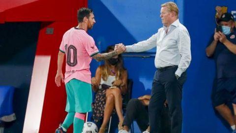 """Koeman planea poner a Messi ante Getafe ya que si no juega """"está más cansado"""""""