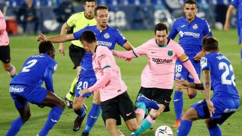 El Barcelona se estrella contra la telaraña táctica del Getafe