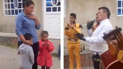 VIDEO: Con 5 pesos y unas canicas, niño le lleva serenata a su mamá