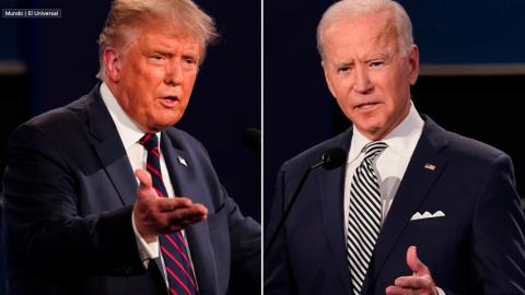Aprueban apagar micrófonos en debate Trump-Biden para evitar interrupciones