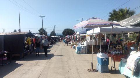 Supervisan mercado común en El Sauzal