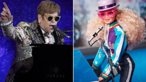 Barbie se inspira en Elton John y le rinde homenaje