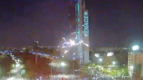 Celebraciones en Santiago de Chile tras el plebiscito