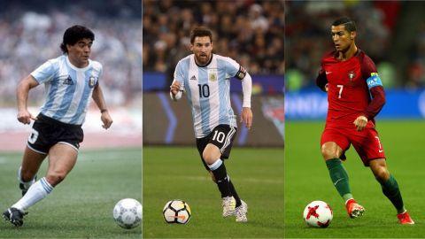 Maradona: Cristiano y Messi por encima de todos