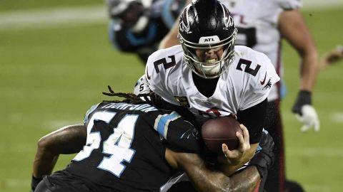Falcons se aferran y vengan derrota ante Panthers