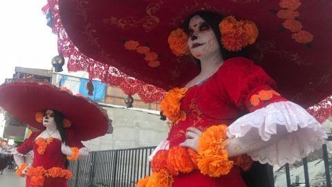 'Las Catrinas', baile y fiesta en la Revu