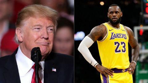 LeBron James apesta, gritan en discurso de Donald Trump