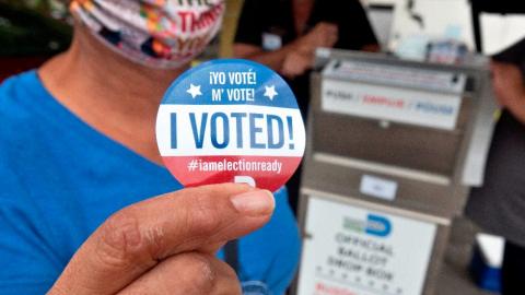Votación anticipada en EEUU alcanza máximo histórico de 100 millones