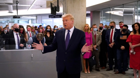 La gente tiene ''derecho a conocer'' el ganador el día de la elección: Trump