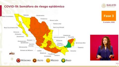 Municipios de Sinaloa retroceden verde a naranja por Covid