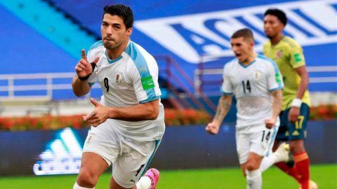 Uruguay sorprende y golea a Colombia como visitante en eliminatoria sudamericana