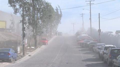 Aumento de temperaturas por condición Santa Ana