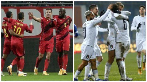 Bélgica e Italia completan la fase final
