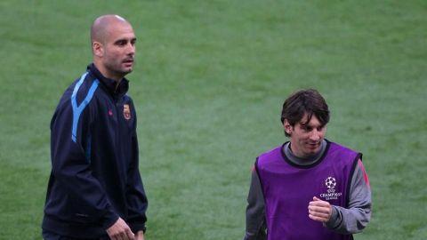Guardiola dice que espera que Messi acabe su carrera en el Barcelona