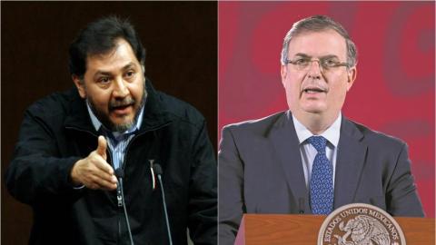 ¿Cienfuegos regresó en jet privado? pregunta Noroña y Ebrard responde