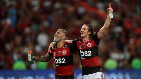 Gabigol y Filipe Luis volverán con el Flamengo en el partido ante el Racing