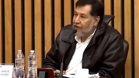 Noroña se niega a usar cubrebocas y obliga a receso en sesión del INE