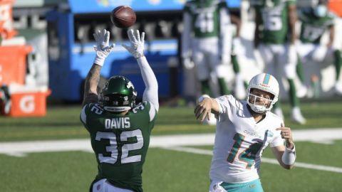 Fitzpatrick y Dolphins mantienen a Jets sin victorias