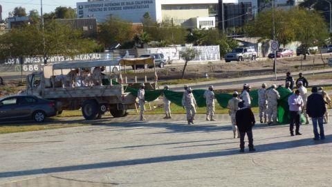Se rompe la bandera de Plaza Centenario en Mexicali
