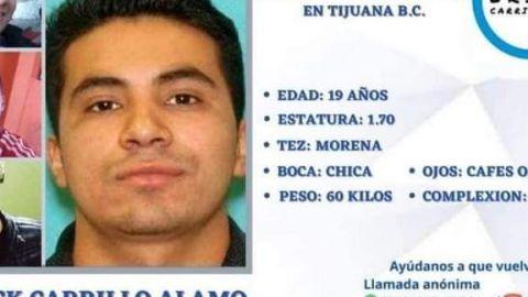 Continúa búsqueda de Erick Carrillo, joven desaparecido en Tijuana