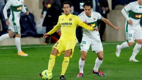 El Villarreal no consigue superar la trama defensiva del Elche
