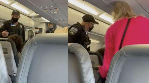 VIDEO: Con aplausos, expulsan de avión a mujer que se negó usar cubrebocas