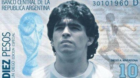 Proponen billete con rostro y gol de Maradona a los ingleses