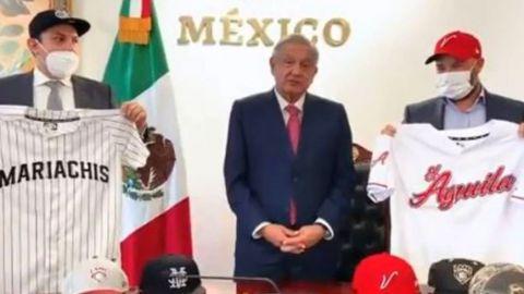 VIDEO: AMLO anuncia dos nuevos equipos para la Liga Mexicana de Beisbol